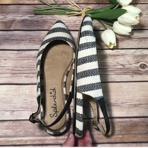 Anthropologie Splendid slingback striped flat